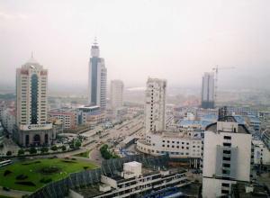 義烏市内風景